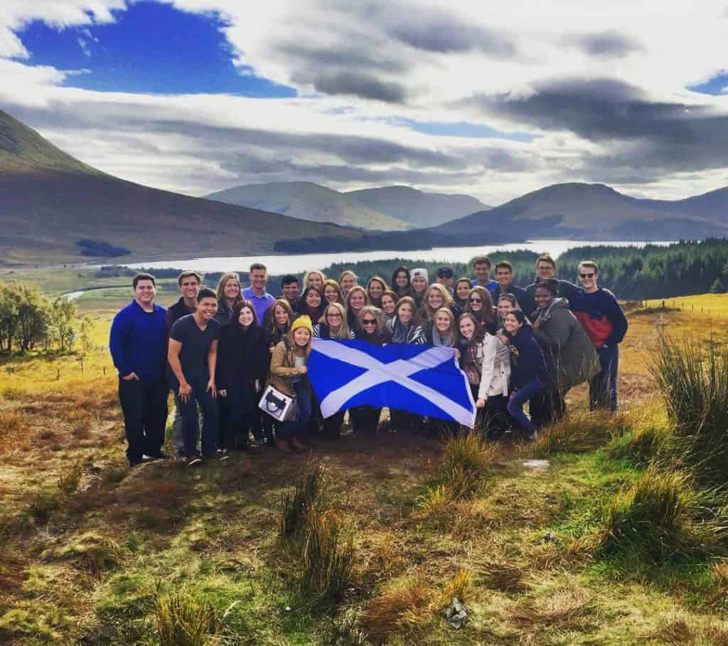 Group of people on a Haggis Adventures Tour in the Scottish Highlands