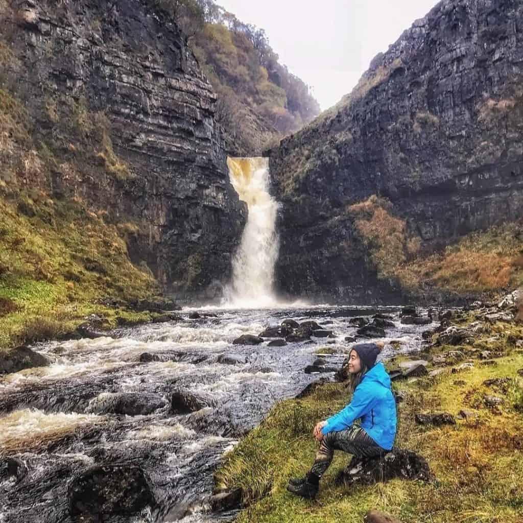 Waterfall in Skye, Scotland