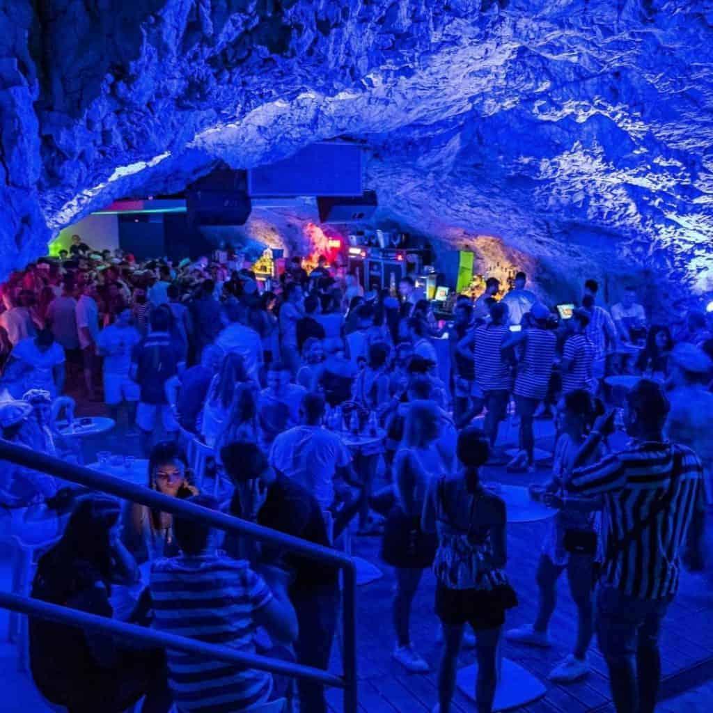 Pirate party cave in Croatia