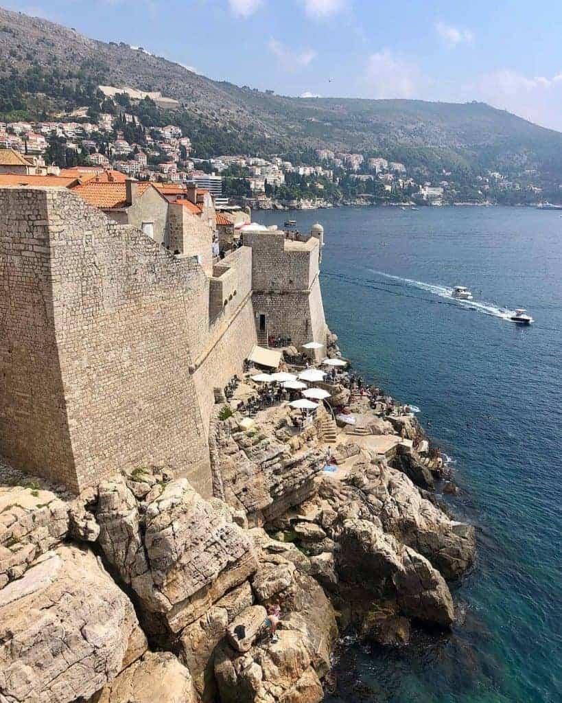Buza Bar hidden in the side of cliff in Dubrovnik, Croatia