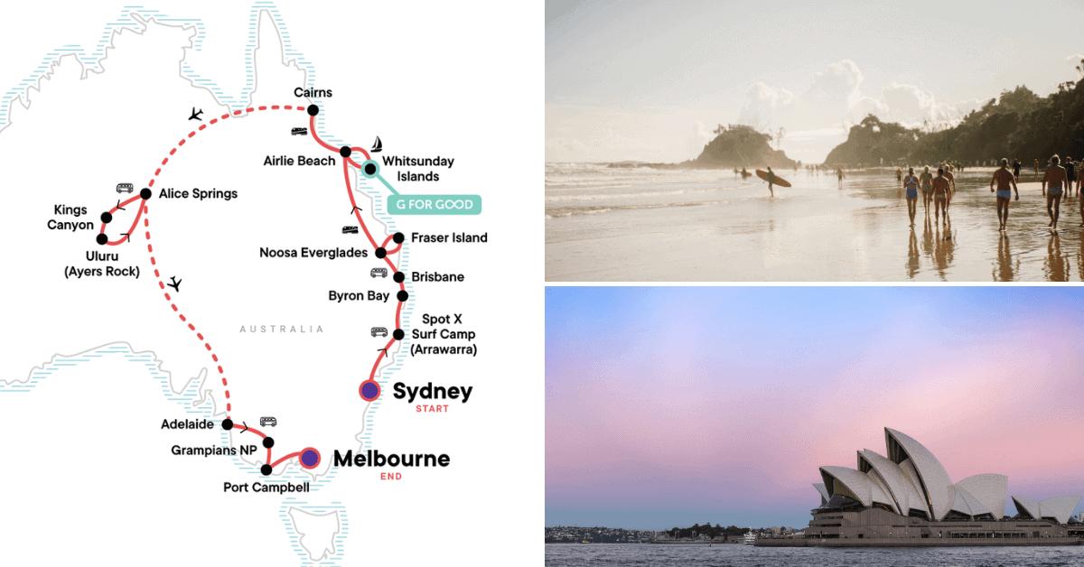 australia encompassed tour g adventures