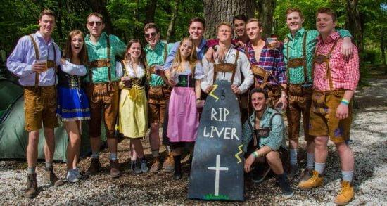 Stoke Travel Oktoberfest trip with RIP coffin