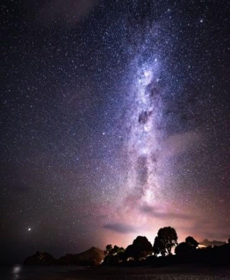 Beautiful constellations of the Milky Way with bright stars