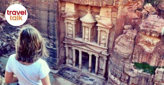 Young woman on Travel Talk tour in Petra, Jordan