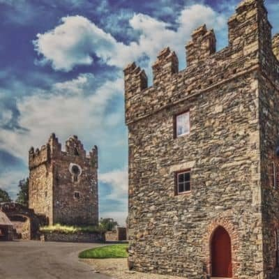Two small castles that make up Castle Ward in Northern Ireland