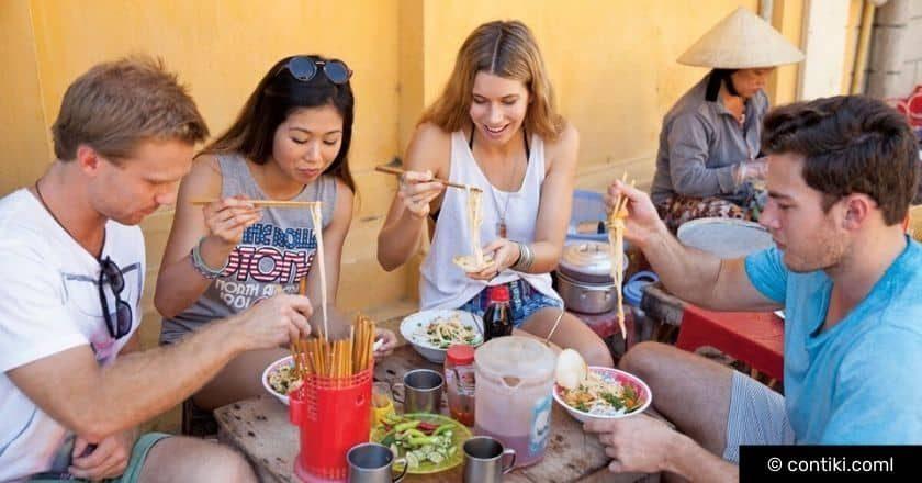 Contiki food on tour